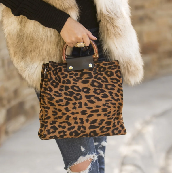 Fashion Leopard Handle Bag-2color