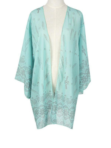 Summer Blouse Chiffon Women Floral Tops Beachwear