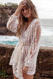 Irregular Waist Long Sleeve Shiny Mini Dress-2color