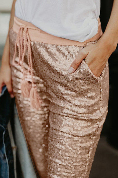 Tassel Sequins Casual Trousers