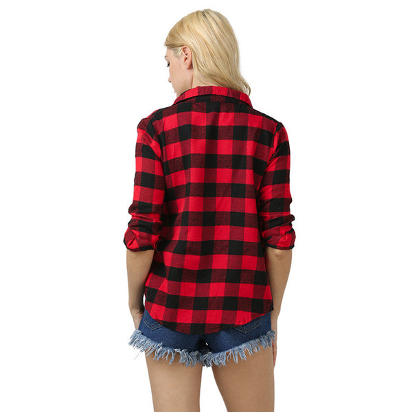 Wild Street Plaid Shirt-2color
