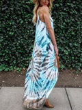 Boho Maxi Dress|Printed Spaghetti-neck Maxi Dress-ShopForSelection
