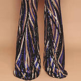 Black Sequined Casual Pants