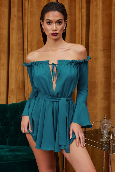 Solid Color Strapless Tie Dress