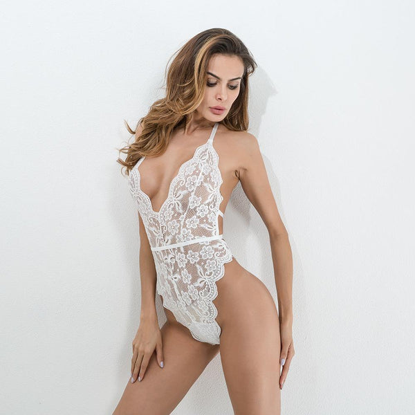 Sexy female lace bodysuit