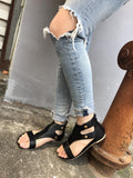 Metal Rivet Flat Size 35-43 Bottom Roman Sandals