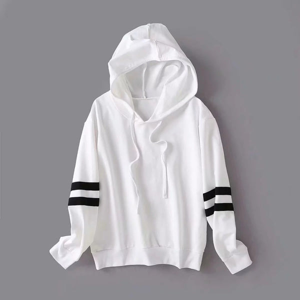 Striped Colorblock Hooded-3color