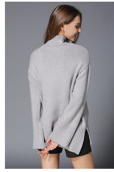 Letter Knit New Ladies Turtleneck Sweaters
