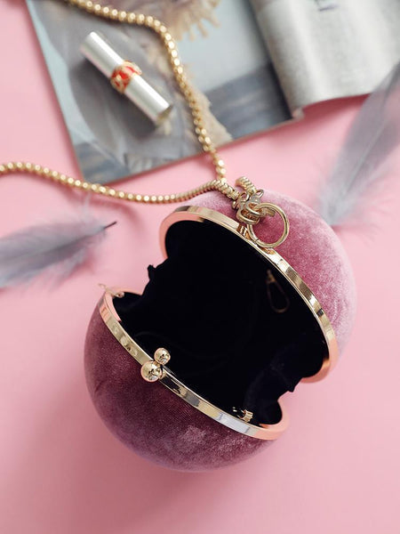 Velvet Sphere Single Shoulder Bag