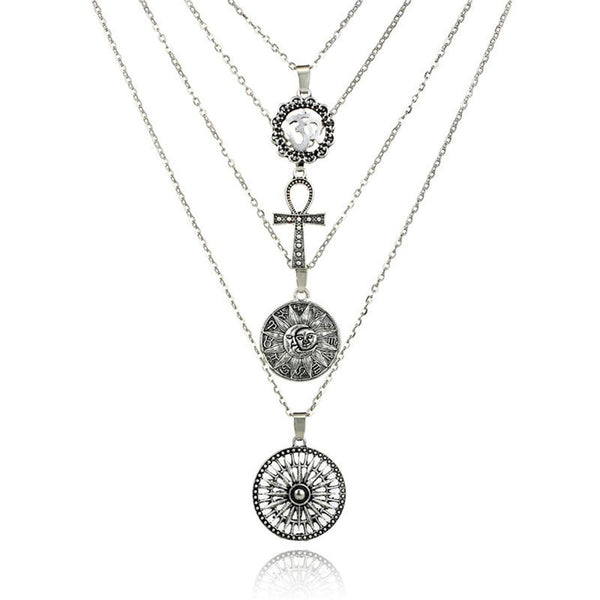 Boho Vintage Necklaces & Pendants Multilayer Cross Jewelry