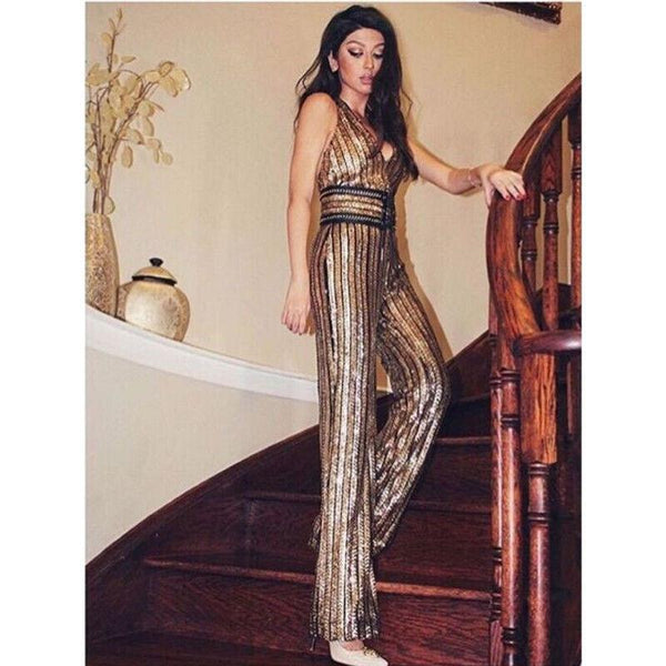 Sparkly Shiny Sequin Jumpsuits