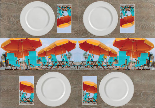 Beach Chairs Napkins & Table Runners