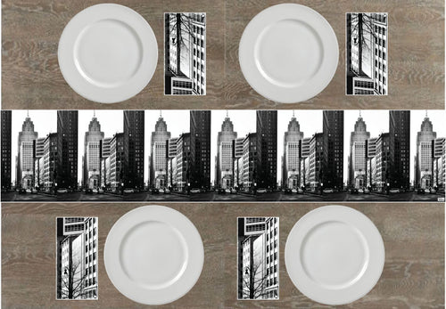 Downtown Detroit Napkins & Table Runners