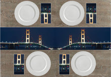 Load image into Gallery viewer, Mackinaw Bridge Napkins & Table Runners
