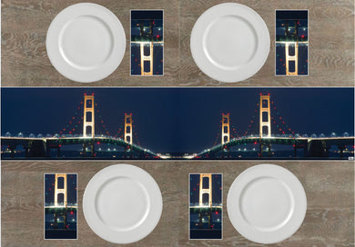 Mackinaw Bridge Napkins & Table Runners