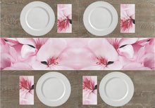 Load image into Gallery viewer, Pale Pink Flowers Napkins & Table Runners