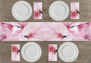Pale Pink Flowers Napkins & Table Runners