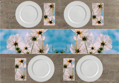 White Flowers Napkins & Table Runners