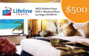 *Lifeline Travel (Digital)  $500 off Travel Savings Dollars Card