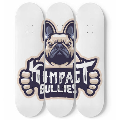 Kompact Bullies 3 Skateboard Wall Art
