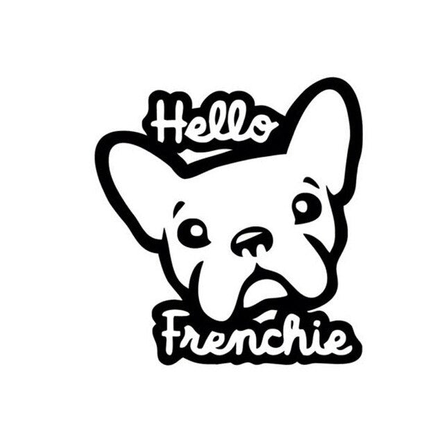 Hello Frenchie Funny Car Window Sticker