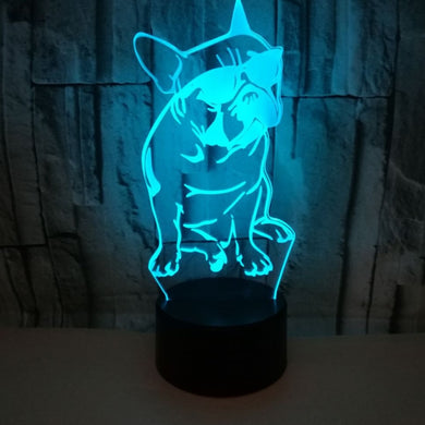 French Bulldog with Sunglass 3D LED Night Light