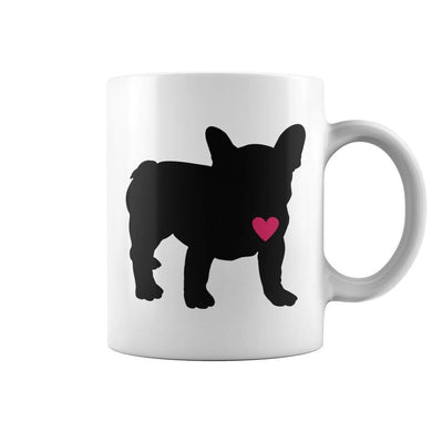 Frenchie Heart Coffee Mug