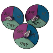 Pronoun Spinner Enamel Pin