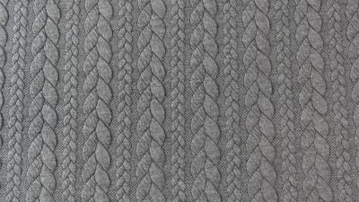 Cable knit Jacquard - Grey