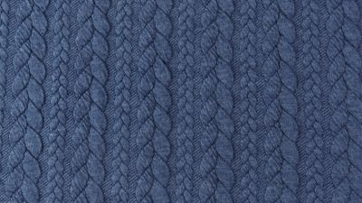 Cable knit Jacquard - TRUE Navy