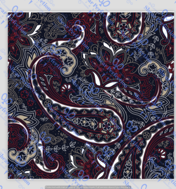R4 Cowboy Paisley - by the 1/2 meter