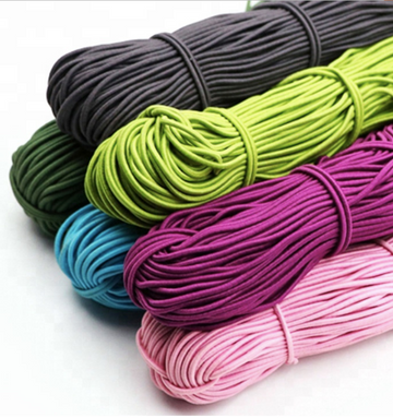 2.5mm Round Elastic Cord by the Meter- Variety of Colors