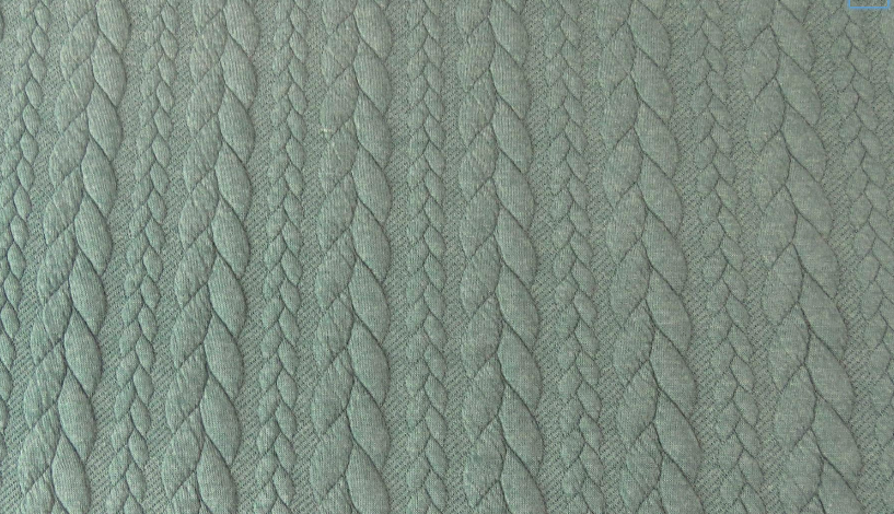Cable knit Jacquard - Rustic Green