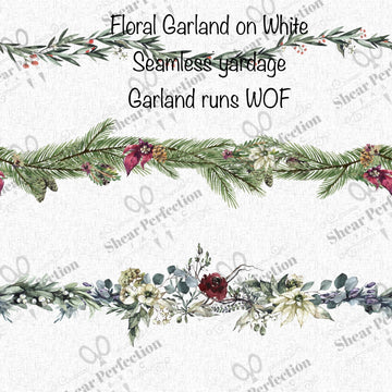 R9 Preorder - Floral Garland on White