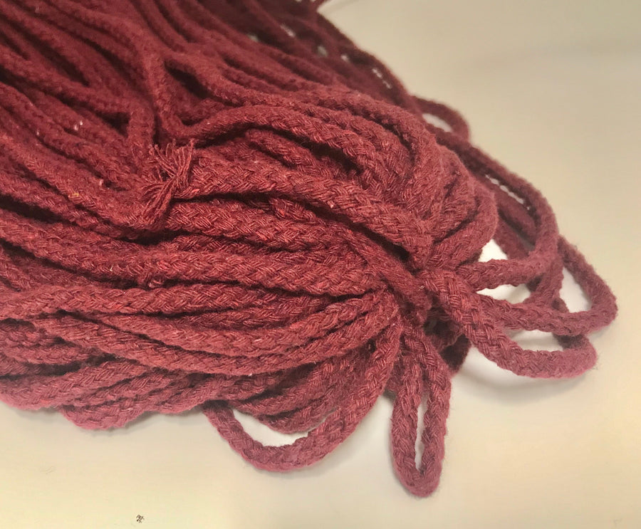 Braided Cotton drawstring - Variety of colours