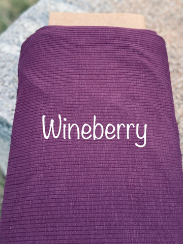 Classic Rib Knit - Wineberry