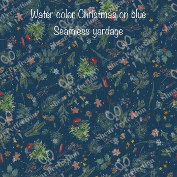 R9 Preorder - Water color Christmas on Blue