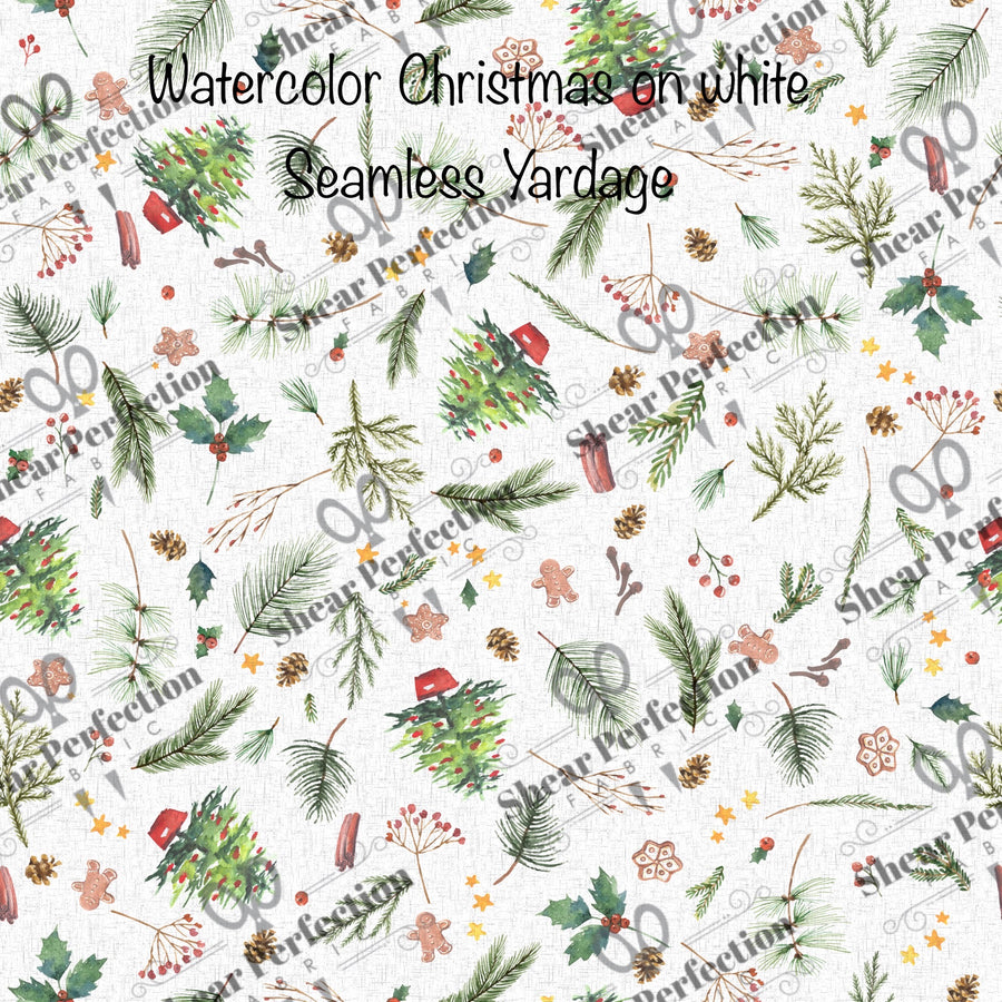 R9 - Water color Christmas on White