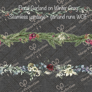 R9 Preorder - Floral Garland on Winter Grey