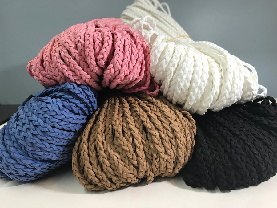 Braided Suede drawstring - Variety of colours