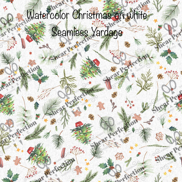 R9 Preorder - Water color Christmas on White