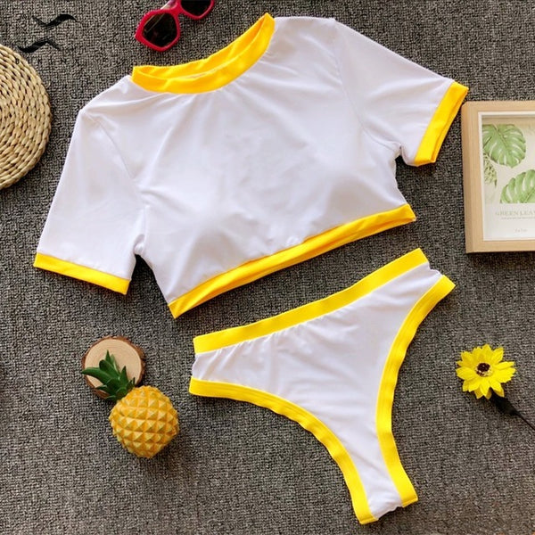 Sports high waist two piece swimsuit