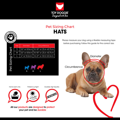 Hats Sizing Chart Toy Doggie Brand