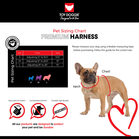 Mesh Harness Sizing Chart Toy Doggie Brand
