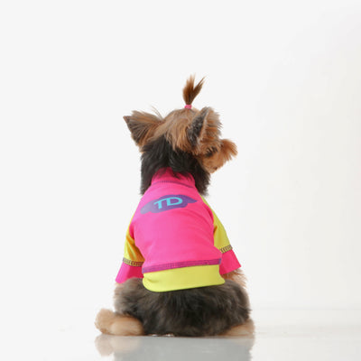 Toy Doggie™ - Neon Pink & Yellow - Dog Rash Shirt