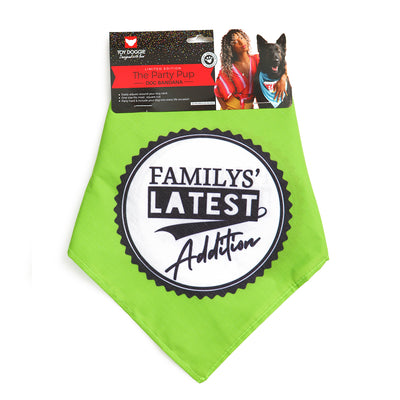 Toy Doggie™ - Family Latest Addition Dog Bandana
