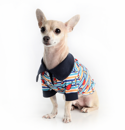 Toy Doggie™ - Mr. Chicken BBQ Dog Polo Shirt