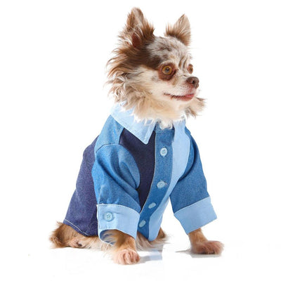 Toy Doggie™ - The Denim Button Up Dog Shirt