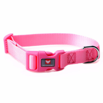 Toy Doggie™ - Soft Pink Nylon Dog Collar