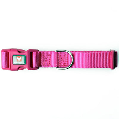 Toy Doggie™ - Hot Pink Nylon Dog Collar